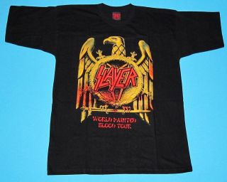 slayer tour shirt in Clothing, Shoes & Accessories