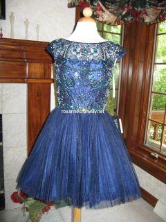 Navy Blue Cocktail Dress on Sherri Hill 2814 Navy Blue Stunning Cocktail Dress 8