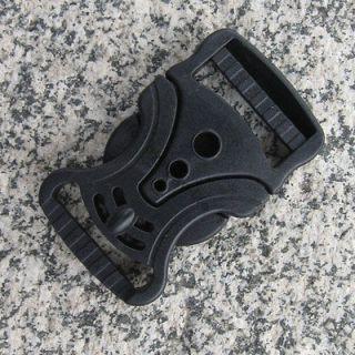 10 pcs Black plastic Multi Hole V shape Buckle Fashion For 1 Belt