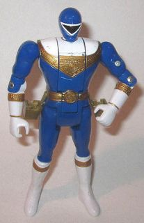 1996 Bandai Power Rangers Zeo Blue Ranger Flip Head Action Figure