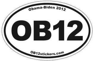 OB12 Pro Obama Biden Oval Sticker (pack of 50) bumper 2012 Pro