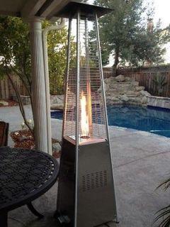 BONFIRE lava flame fire Patio Garden propane Gas outdoor Heater