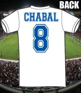SEBASTIEN CHABAL FRANCE RUGBY CULT T SHIRT NAME+NO GIFT