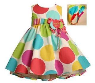 Bonnie Jean Baby Girls Polka Dot 1st Balloons Birthday Boutique Dress