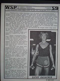 WOMENS PHYSIQUE PUBLICATION BODYBUILDING WSP #59 Dec 1980 BASACKER