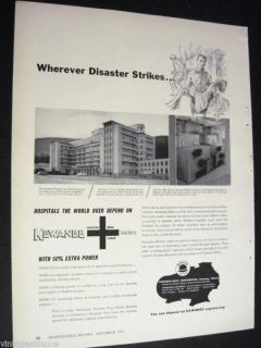 photo of Hospital San Carlos Bogota Colombia 1955 Kewanee Boiler Ad