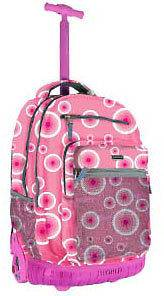 19 Rolling Wheeled Laptop School Backpack Pink Target RBS 19