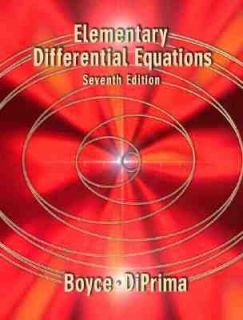 Elementary Differential Equations by William E. Boyce and Richard C