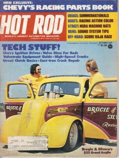 October 1975 HOT ROD Magazine Brogie Silvera Anglia SCORE Mexico Ricci