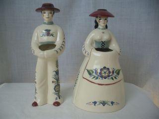 Pr.Vintage,c1936,BRAYTON LAGUNA,Webton Ware,Scandinavian,Figural Vases