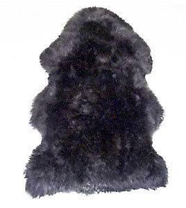 New Large PEWTER W BLACK TIP Merino Australian Sheepskin Shag Rug High