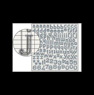 Jenni Bowlin Studio Large Alphabet Stickers Black Tiny Dot