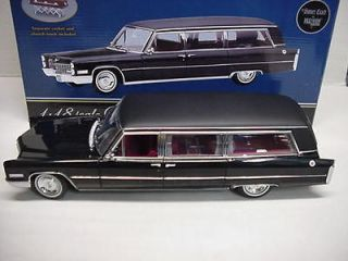 HEARSE BLACK LIMO 1966 CADILLAC METAL 1/18 PRECISION MINIATURES