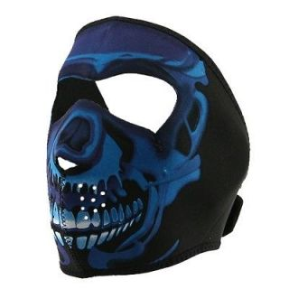 in 1 Reversible Motorcycle Biker, Ski, Neoprene Face Mask   Neon