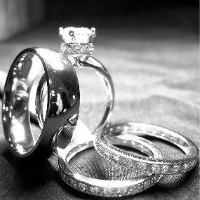 hers TITANIUM & STERLING SILVER wedding bridal matching rings set new