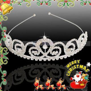 Bridal Jewelry Flower Style Rhinestone Hair Accessories Crown Headband