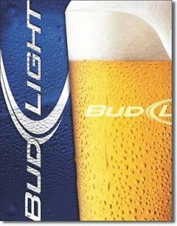 Bud Ligh Frosy Glass Budweiser Beer Meal in Sign Pub Bar Home