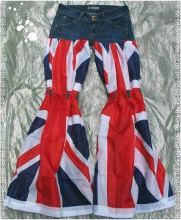 Size  27/US 4 New Custom Union Jack British flag Hudson jeans pants