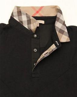 Authentic BURBERRY BRIT Mens T shirt Polo Black Size XS,S,M,L Long