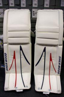 Sherwood T95 Wht/Blue/Red 34+1 Goalie Leg Pads
