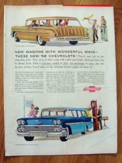 1958 Chevrolet Nomad & Brookwood Station Wagon Ad