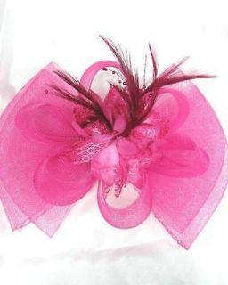 Hat Bow Shape Party Hair Clip Great For Weddings Bridesmaid,Hot Pink