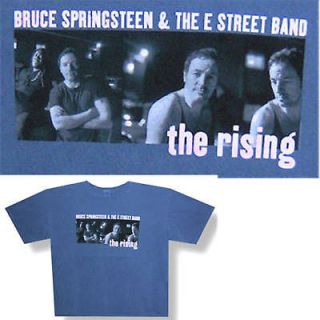 BRUCE SPRINGSTEEN COLLAGE/THE RISING BLUE T SHIRT XXL 2XL NEW