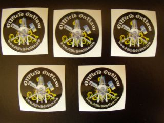 Oilfield Outlaw   5 New Rig Mechanic Hard Hat Stickers