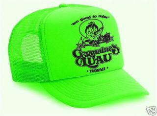 Germaines LUAU HAWAII Hula Gilrl Mesh Trucker HAT GREEN