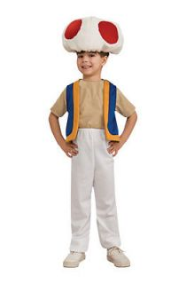Super Mario Brothers Toad Child Costume sizeSmall
