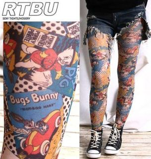 Tights Looney Tunes Tweety Bugs Bunny Porky Pig Sylvester Cartoon
