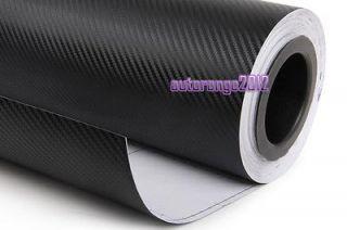 3D Black Carbon Fibre Vinyl Film Wrap BMW AUDI Car Sticker Bubble Free