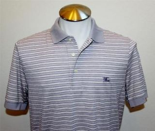Authentic BURBERRY LONDON Mens T shirt Polo Stripes Size Small S Short