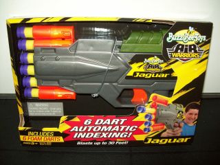 Buzz Bee Toys Air Warriors Automatic And 6 Foam Darts Toy Gun (NIB