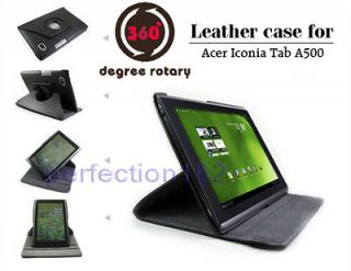 360°Rotating Stand Leather Case Cover Holder For Acer Iconia Tab A500