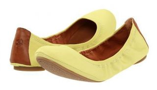 NEW $67 WOMENS LUCKY BRAND EMMIE 2 CHARTREUSE BALLET FLATS SHOES SIZE