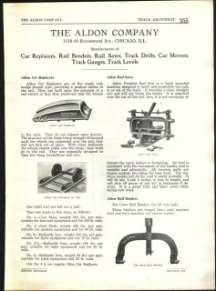 1922 AD Aldon American Car Foundry Ore Cars Baker Coal Mine Mining