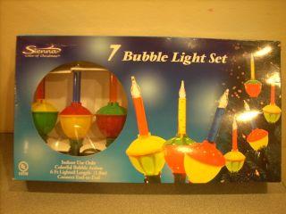 CHRISTMAS TREE BUBBLE LIGHTS STRING BULB SET 7 NEW C7 SIZE BULBS