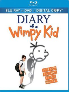 Diary of a Wimpy Kid Blu ray DVD, 2010, 3 Disc Set, Includes Digital