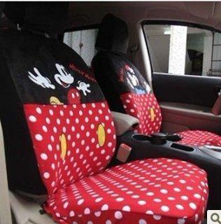 NEW Disney Mickey & Minnie Mouse G020 Car Seat Cover Set 10 pcs