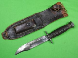 US Vietnam Era CAMILLUS Jet Pilot Survival 6 Blade Fighting Knife