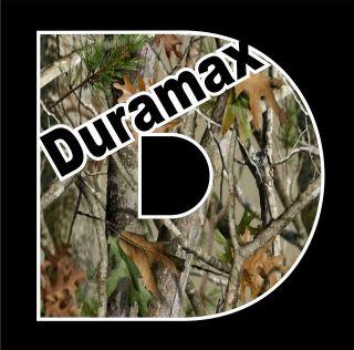 Duramax Camo Vinyl Decal chevrolet chevy turbo diesel Truck window oak