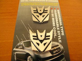Decal Emblem Transformer Decepticons Auto Metal Car Sticker 3D 3M