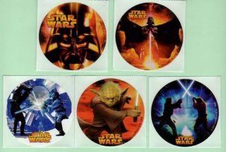 75 Star Wars III Stickers Birthday Party Favors ROTS Darth Vader Yoda
