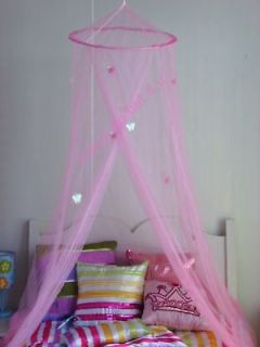 Princess Pink Bed Canopy with Pink Shimmer Butterflies