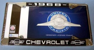 LICENSE TAG FRAME FOR 1968 CHEVY CHEVROLET CAMARO CHEVELLE CAR TRUCK