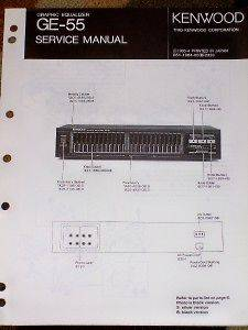 Kenwood GE 55 Graphic Equalizer Service/Parts Manual