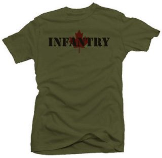Infantry Canadian Forces Military Army New T shirt