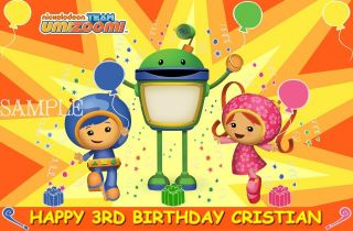 TEAM UMIZOOMI #3 FROSTING SHEET EDIBLE CAKE TOPPER IMAGE DECORATIONS