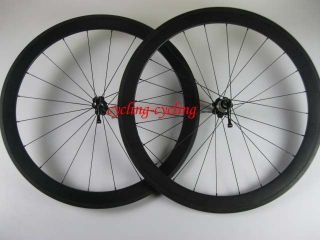 700C 50mm clincher carbon fiber road bike wheelset racing bicycle